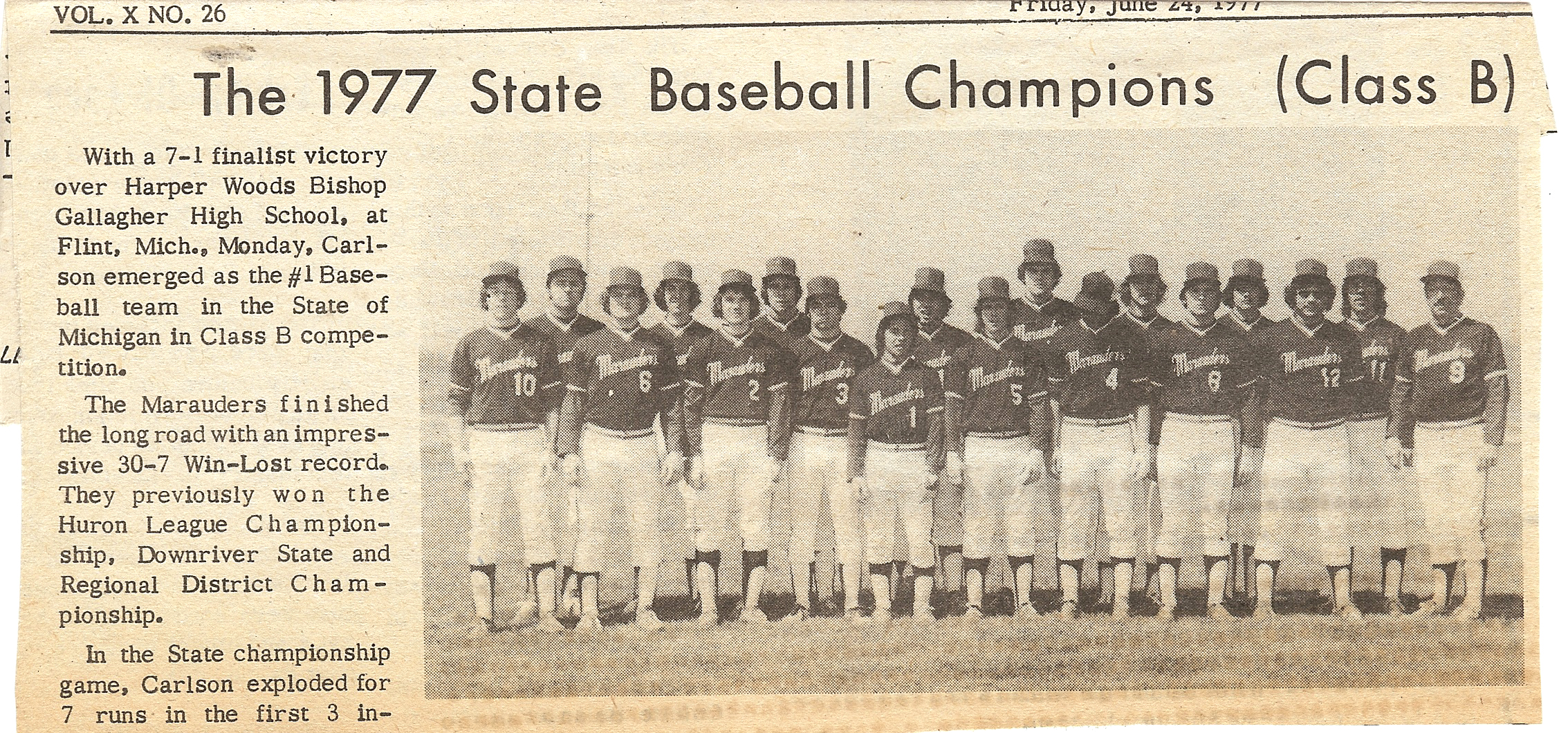 1977 State Champs