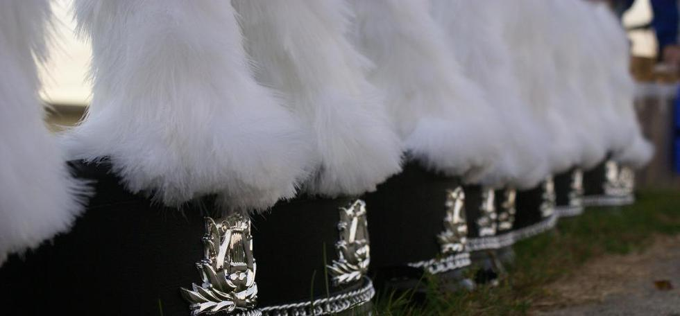 Band image of a row of band hats
